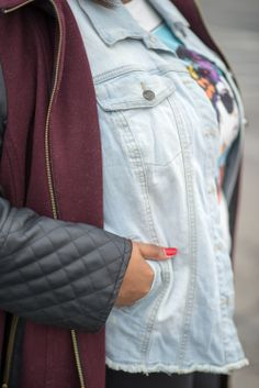 plus sizePixie denim jacket#MacysCampusTour university of indianapolis student campus style