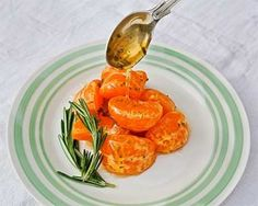 Mandarin Oranges with Rosemary Honey *Simple to make *Incredibly delicious *Gluten-free and vegetarian