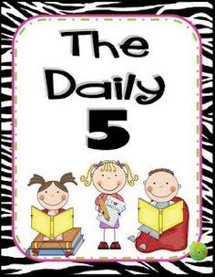 Daily 5 Zebra Posters