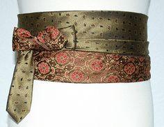 ceinture cravate bronze