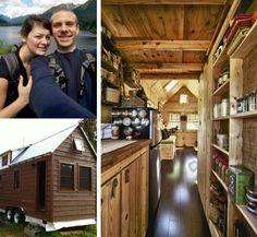 Casal se muda para trailer de madeira de apenas 13 m²