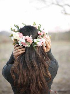 13 Flower Crowns for Your Boho Wedding via Brit + Co.
