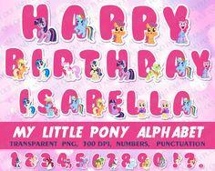 Mi pequeño Pony digital alfabeto Imágenes por CutOutAndPlay en Etsy