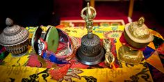 Tibetan Buddhist ritual instruments used in offerings. Photo © YoWangdu.