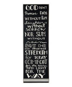 Another great find on #zulily! 'God Didn't Promise' Box Sign by Primitives by Kathy #zulilyfinds