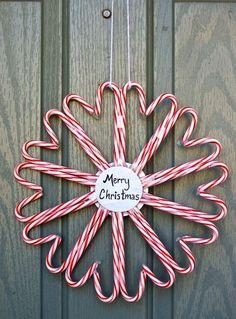 Candy cane snowflake. Cute