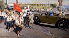 """Иван Владимиров. """"Интуристы в Ленинграде"""", 1937 год"""