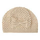 Cute beanie - love the bow. I have it in black.