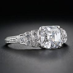 2 Carat Asscher Diamond Engagement Ring 35