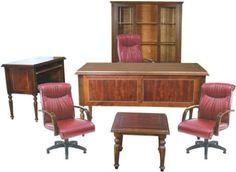 İngiliz klasik tornalı stil ,ofis çalışma masa takımı
