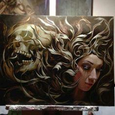 Oil painting by Carlos Torres.