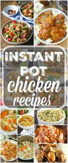 Here are a bunch of easy Instant Pot chicken recipes! We love this fancy pressure cooker and chicken can be cooked in no time, really healthy too! via @thetypicalmom