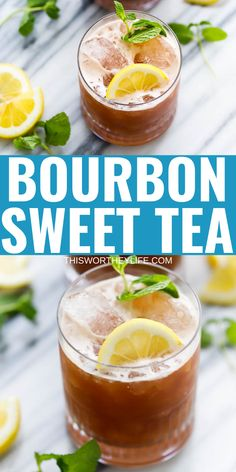 Bourbon Sweet Tea Cocktail - Gret Drink To Enjoy Anytime Of The Year! Fun Drinks Alcohol, Easy Alcoholic Drinks, Alcholic Drinks, Alcohol Drink Recipes, Fancy Drinks, Yummy Drinks, Bourbon Drinks Winter, Bourbon Mixed Drinks, Easy Mixed Drinks
