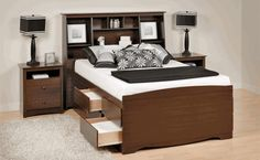 bed with storage space