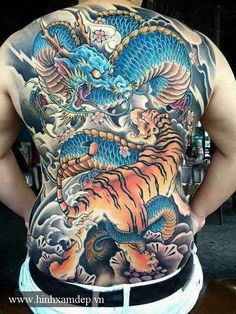 45 Awesome Back Tattoos For Men Back Tattoos For Guys, Full Back Tattoos, Full Body Tattoo, Body Art Tattoos, Sleeve Tattoos, Dragon Tattoo Full Back, Tattoo Japanese Style, Japanese Tattoos For Men, Japanese Dragon Tattoos