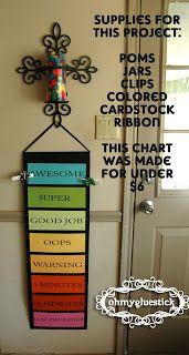 Oh My Gluestick: Behavior Chart and reward jar: Pretty AND Cheap!