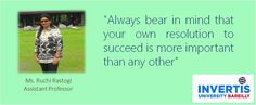 #motivationalFriday #JoinInvertis #QuoteoftheDAY #BeInvertian — with Ruchi Rastogi.