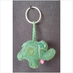 Gringo green elephant keyring beads felt handmade fair trade Listing in the Other,Womens Accessories & Bags,Clothes, Shoes, Accessories Category on eBid United Kingdom