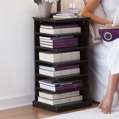 Reader's Night Stand - No more book piles by the bed with storage exactly where you need it.