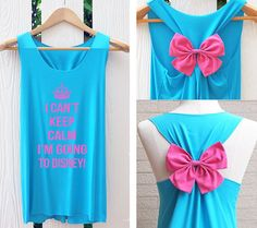 I can't keep clam l'm going to disney Bow Tank Top. Racerback bow. Disney shirt Tank Top. Bachelorette Party Tank Tops. Work out tank top.