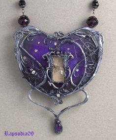 Jewelry Jewelry pendant Jewelry Necklace Silver pendant Purple pendant Gothic neckalce Amethyst Necklace