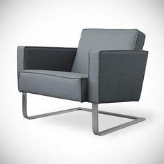 High Park Chair in Menswear Griffin design by Gus Modern