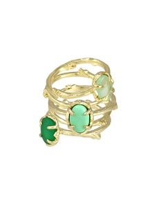 Stormy Stackable Rings in Green Fern. Perfect with a hot pink dress! #ksadventure #kendrascott