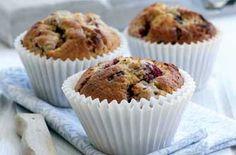 Chocolate and strawberry muffins