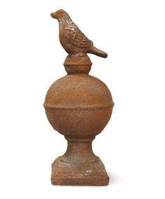 Look at this #zulilyfind! Perching Sparrow Finial #zulilyfinds