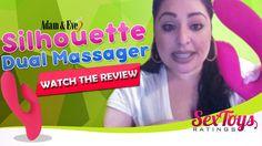 female massager g spot vibrator clitoral vibrator rabbit vibrator Adam and Eve Silhouette Dual Massager