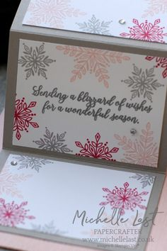 Snowflake Christmas made using Snow Is Glistening exclusive stamp set available in November from Stampin Up and my online shop. Christmas Makes, Christmas 2019, Christmas Crafts, Snowflake Cards, Snowflakes, Card Making Techniques, Stampin Up Cards, Cardmaking, Projects To Try