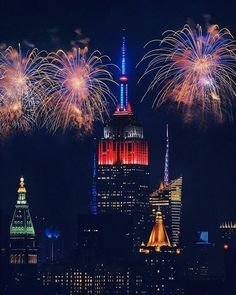 The Empire State Building is officially 86 years young today! Join us in celebrating its anniversary by sharing your favorite memories of our world-famous tower in the comments! Photo by 2016 Photo Contest finalist Ariel Concepcion. Empire State Building, Bedroom Wall Collage, Nyc Skyline, Happy Fourth Of July, Our World, Photo Contest, Fireworks, New York City, America