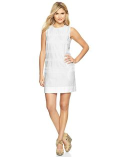 Eyelet-stripe dress Product Image