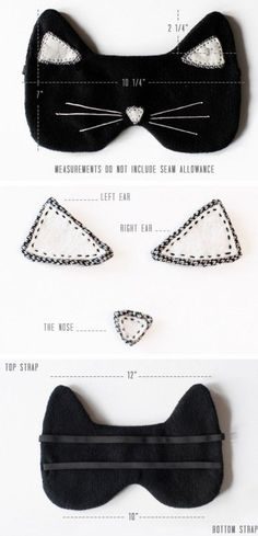 DIY Cat Eye Mask For A Comfortable Sleep | Shelterness