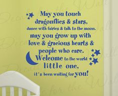 May You Touch Dragonflies and Stars Dance Girl by DecalsForTheWall