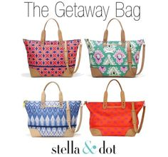 Travel in style with the Stella & Dot Getaway Bag ~ Everyone's favorite traveling companion! #Travel #Bag
