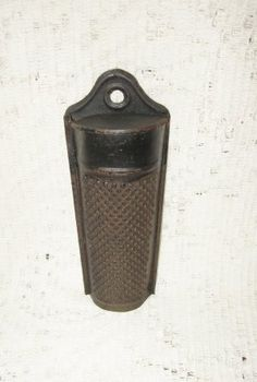 Antique tin wall hanging nutmeg grater @ Vintage Touch ~ SOLD
