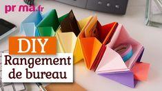 Faire un rangement de bureau en origami - Tuto DIY - YouTube Diy Origami, Origami And Kirigami, Origami Paper, Cool Paper Crafts, Diy Paper, Diy And Crafts, Iris Folding, Paper Folding, Origami Instructions