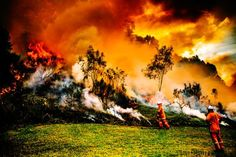 Photographer Cam Neville captures the resilience of rural firefighters on the frontline - ABC News Becoming A Firefighter, Photography Topics, Coral Castle, Australian Bush, Wild Fire, Into The Fire, Fire Art, See Images, Creative Illustration