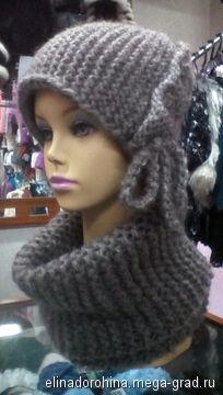 шапка и снуд - вязание и вышивка, плетение, эксклюзивный головной убор. МегаГрад - мега-портал авторской ручной работы