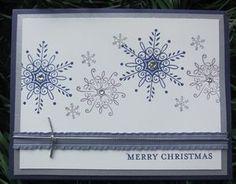 """Stampin up Set """" Serene Snowflake """""""