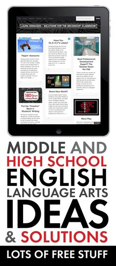 Fresh ideas to add to your English/Language Arts classroom. #highschoolEnglish #middleschoolEnglish
