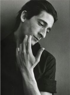 Adrien Brody (has beautiful hands), by Richard Phibbs