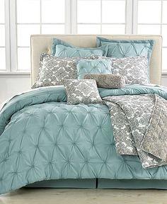 Jasmin Blue 10 Piece Comforter Sets - Bed in a Bag - Bed & Bath - Macy's