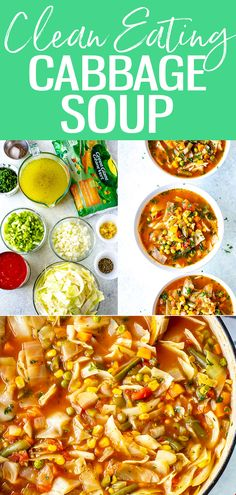 Cabbage is full of antioxidants making this Clean Eating Cabbage Soup a nutrient-rich meal that is perfect for a healthy diet! Best Soup Recipes, Healthy Soup Recipes, Lunch Recipes, Vegan Recipes, Sweets Recipes, Chili Recipes, Healthy Meals, Slow Cooker Pressure Cooker, Crazy Kitchen