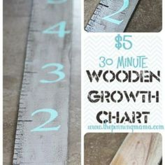 Wooden Growth Chart DIY {Children's Spaces}