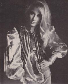 Jane Holzer in Thea Porter. Photographed by Hogenboom for Vogue, November 15 1968.
