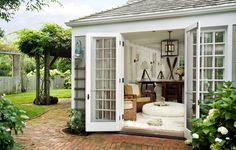 guest cottage, French doors