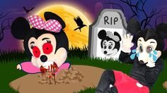 Mickey Mouse Crying because of Minnie Mouse to die Funny Pranks! Finger ...