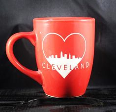 A personal favorite from my Etsy shop https://www.etsy.com/listing/482011879/cleveland-love-mug-cle-ohio-etched